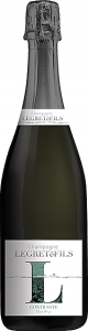 Bouteille champagne contraste extra brut