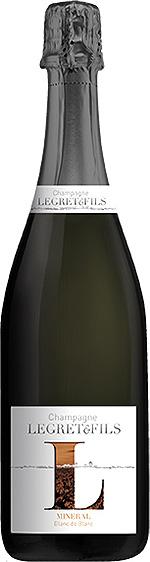 Bouteille champagne minéral Chardonnay