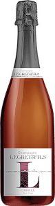 Bouteille champagne rosé corolle : assemblage de trois cépages