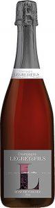 Bouteille champagne rosé de saignée : champagne non dosé