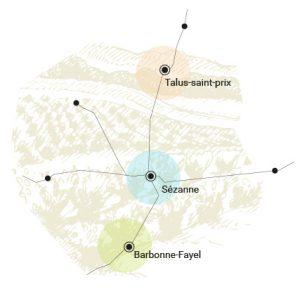 Carte champagne rosé corolle : assemblage de trois cépages