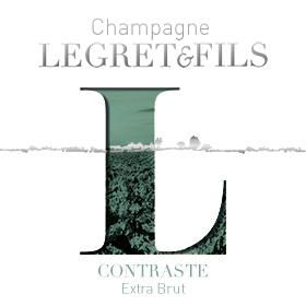 Étiquette champagne contraste extra