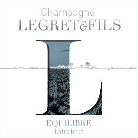 Étiquette champagne équilibre : assemblage de cépages ou three grape varieties