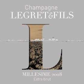 Étiquette champagne millésime 2008
