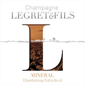 Étiquette champagne minéral : cépage chardonnay ou chardonnay grape