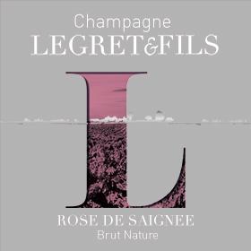 Étiquette champagne rosé de saignée : champagne non dosé