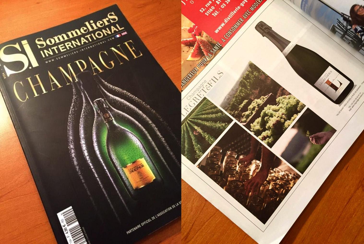Le champagne Legret & Fils dans Sommeliers International
