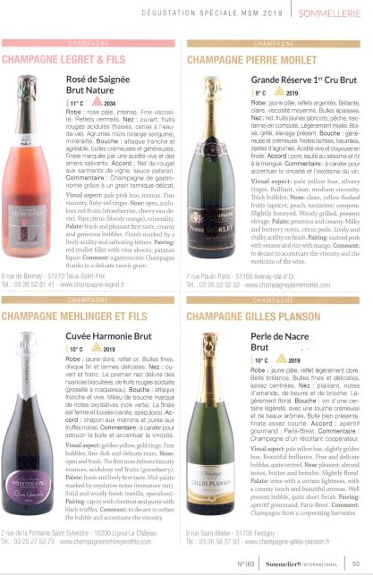 Article Sommeliers International : Champagne Rosée de Saignée