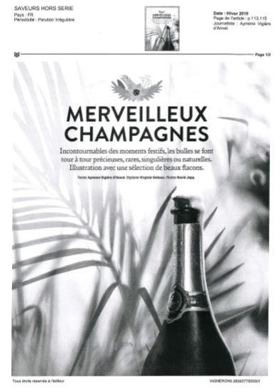 Couverture de page, d'un article dédié aux champagne